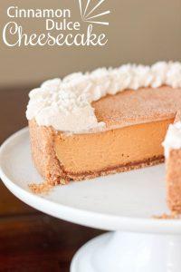 Cinnamon Dulce Cheesecake